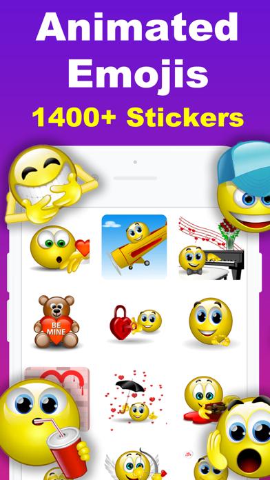 Animated Emoji 3D Sticker GIF screenshot one