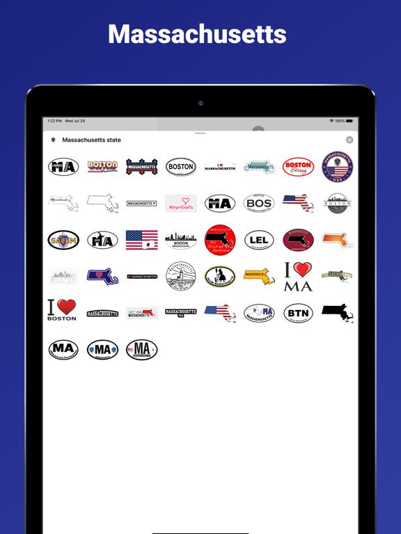 Massachusetts state USA emoji screenshot 4