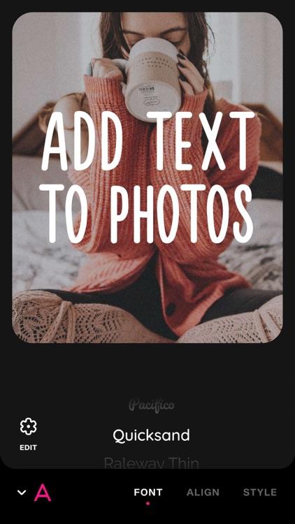 Font Candy Photo & Text Editor screenshot-3