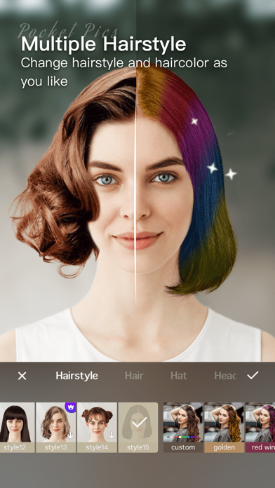 messages.download PocketPics- Hair & Face Editor software