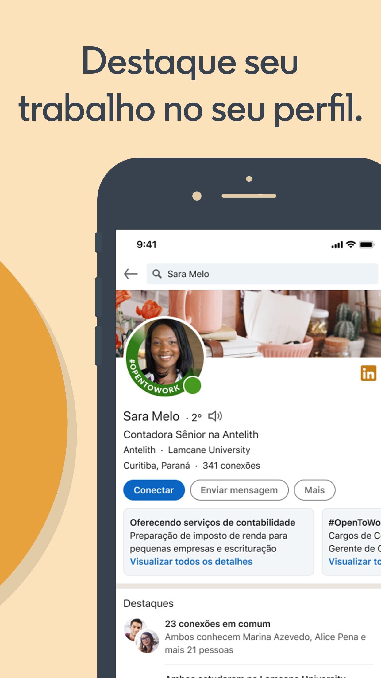 Screenshot do app LinkedIn: Pesquisa de Emprego