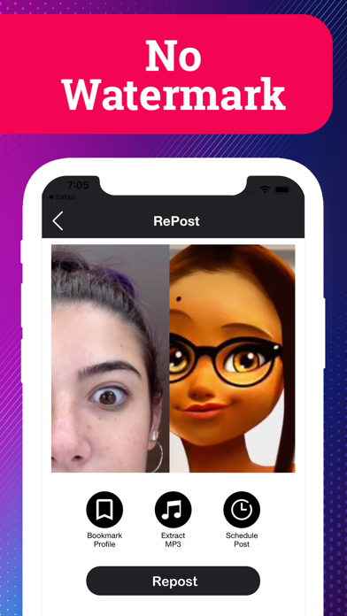 messages.download ReTok - Save & Repost TikTok software