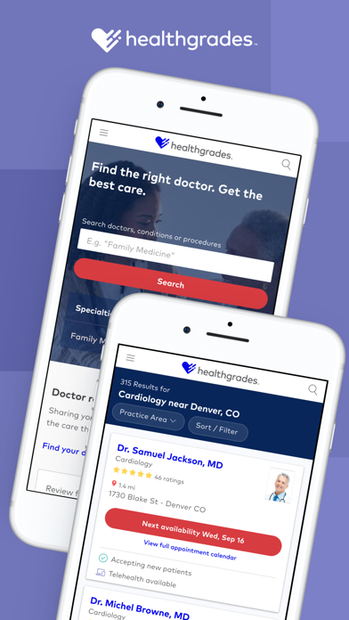 Healthgrades Care Organizer screenshot