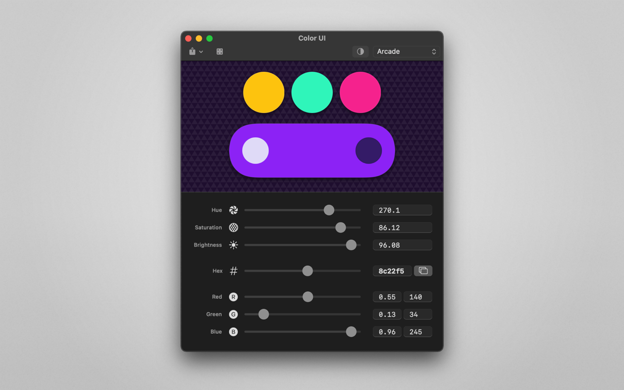 Color UI 2.1 Mac 破解版 彩色取样识别工具