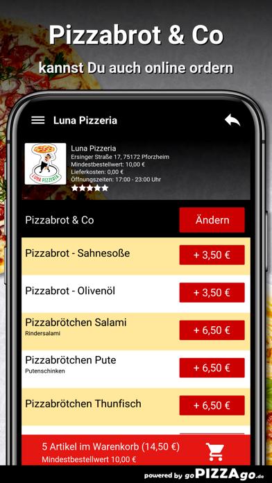 Luna Pizzeria Pforzheim screenshot 5