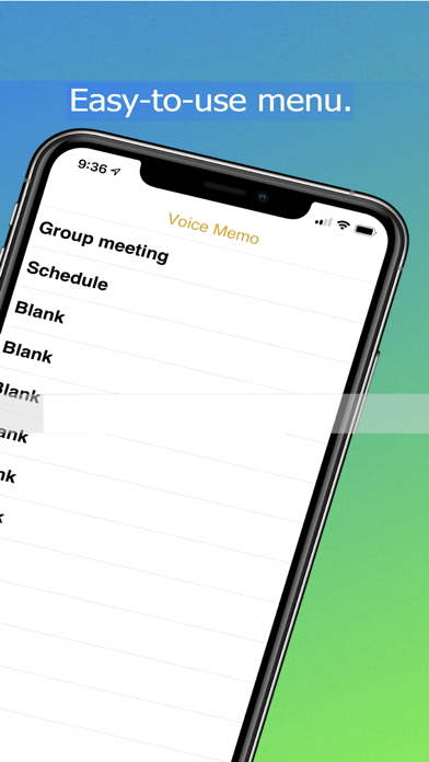 VoiceMemo - Recording & Typing Screenshots