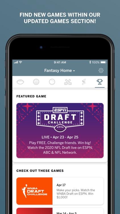 ESPN Fantasy Sports & More screenshot-8