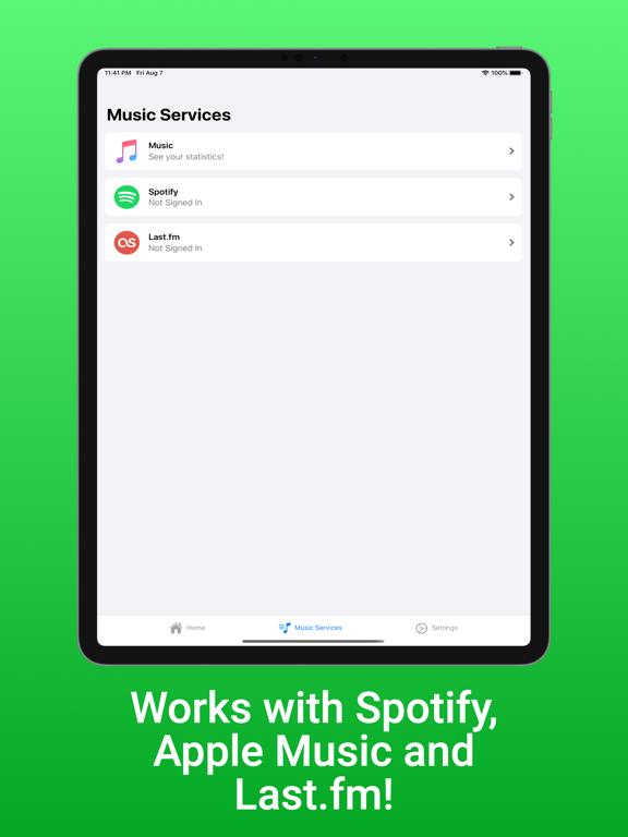 TuneTrack iPad app afbeelding 2