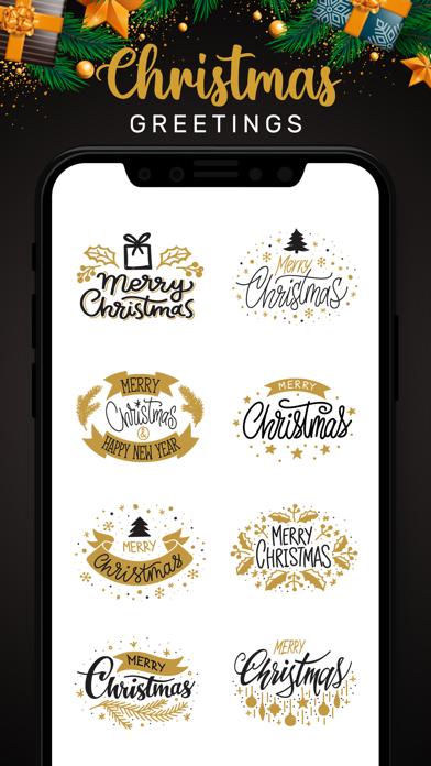 Christmas Lettering Stickers! screenshot 1
