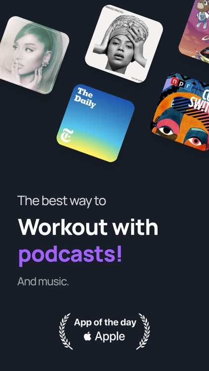 Shift - Workout with podcasts screenshot-0