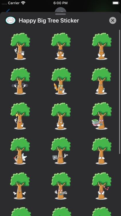 Happy Big Tree Sticker screenshot-3