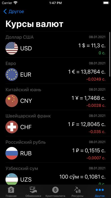 Курсы валют ТаджикистанаСкриншоты 5