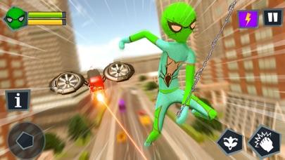Stickman Spider Rope Hero Game Screenshot on iOS