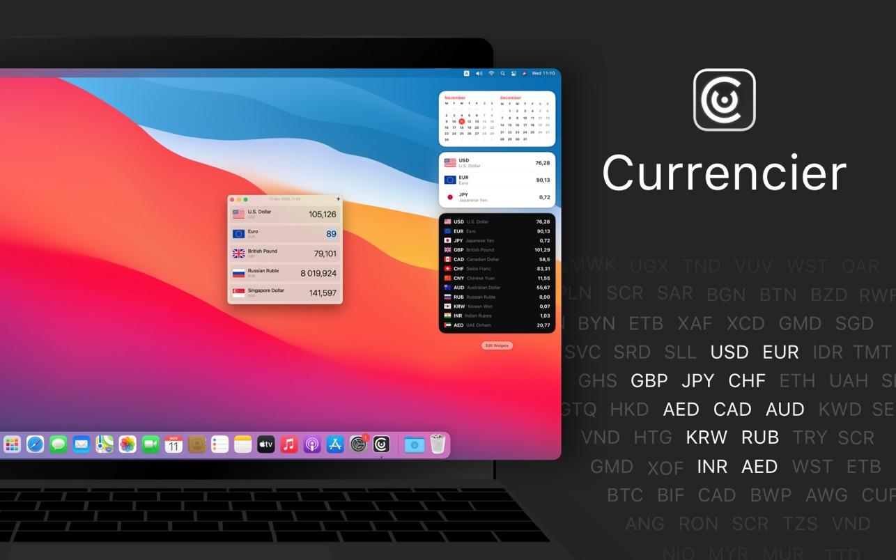 Currencier 2.5.0 Mac 破解版 货币转换器和汇率