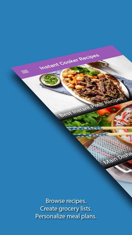 Instant Cooker Recipes