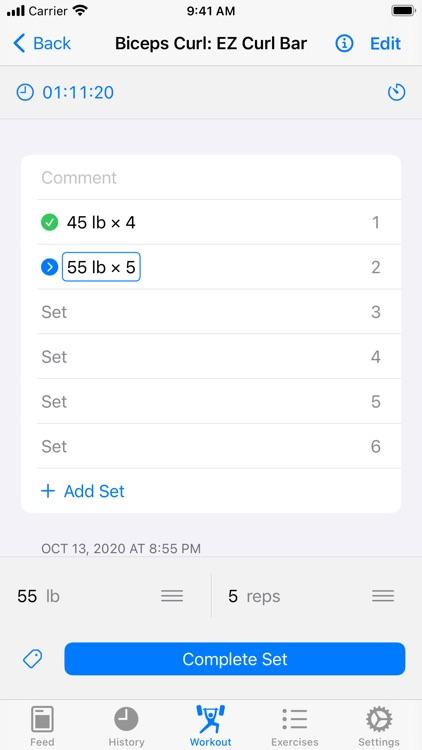 Iron - Workout Tracker screenshot-5
