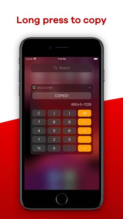 Calculator Widget - WCalc screenshot-4