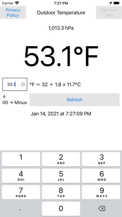 現在地華氏気温度計気圧計測のおすすめ画像1