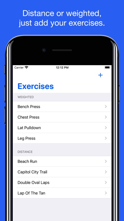 Workout Planner - Exercise