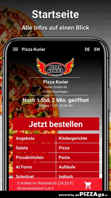 Pizza Kurier Steinhagen Essen screenshot 2