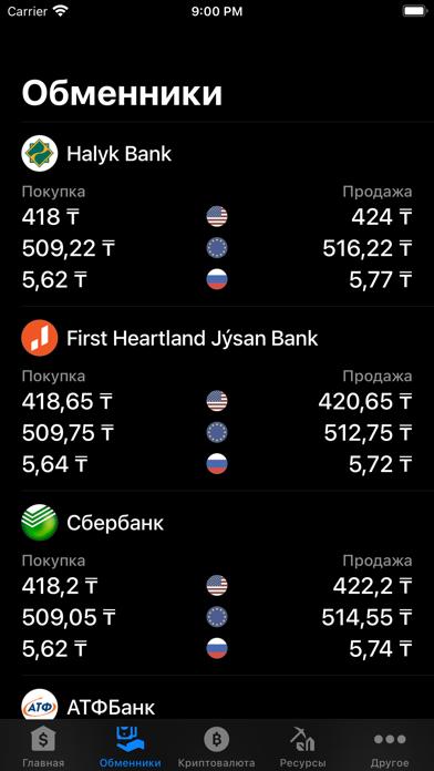 Курсы валют КазахстанаСкриншоты 2