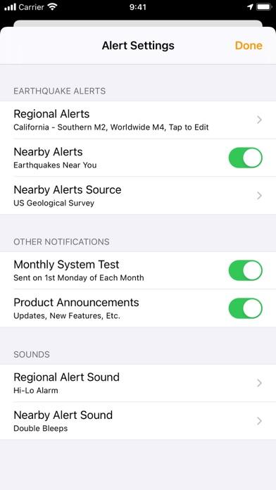 QuakeFeed Earthquake Alerts Screenshot