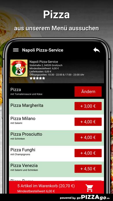 Napoli Pizza-Service Groitzsch screenshot 5
