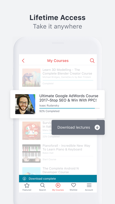 Udemy Online Video Courses Screenshot