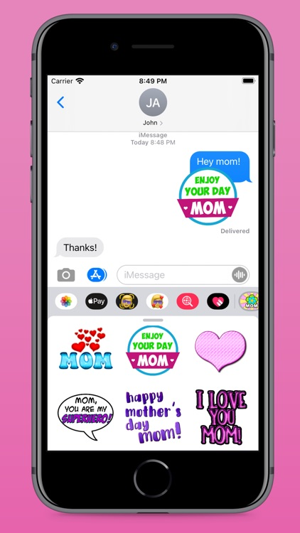 Mother's Day Fun Stickers