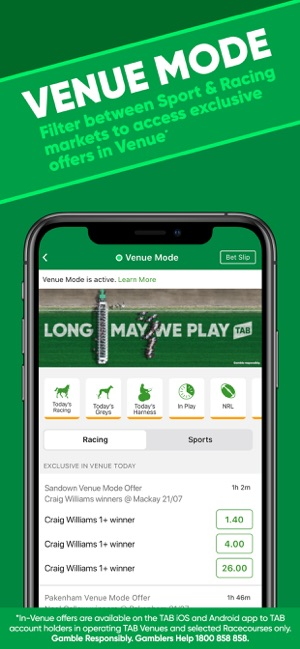 Tab sports bet app come on bet 10 get 20