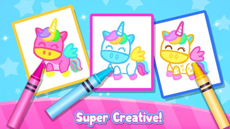 Rainbow Glitter Drawing Book screenshot-4