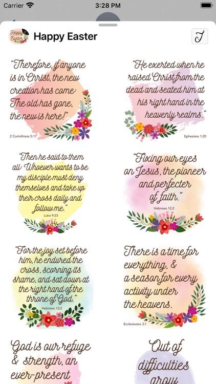 Easter Greetings, Bible Verses screenshot-3