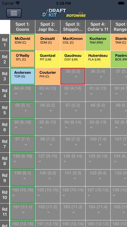 Fantasy Hockey Draft Kit '20 screenshot-3