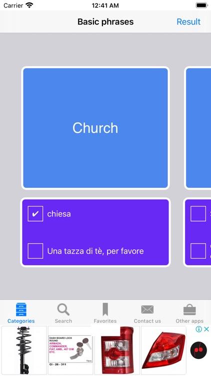 English to Italian Phrasebook screenshot-6