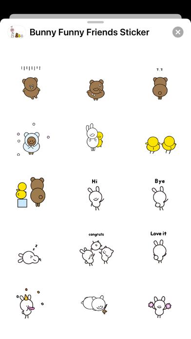 Bunny & Funny Friends Sticker screenshot 3
