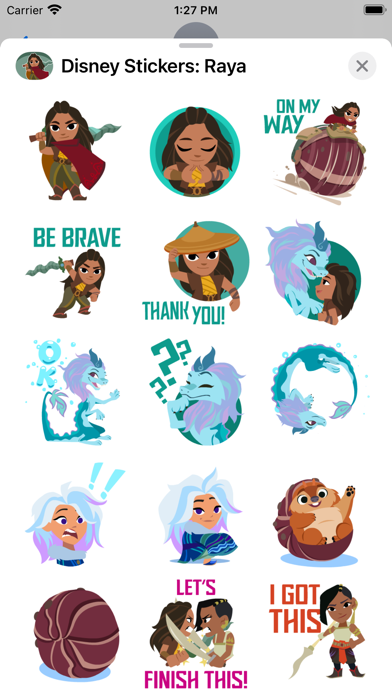 Disney Stickers: Raya screenshot 2