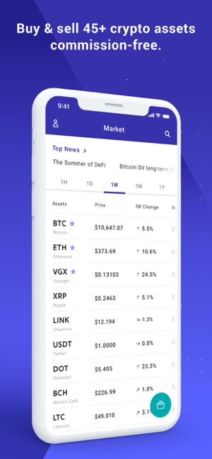 Voyager Buy Bitcoin Crypto On The App Store
