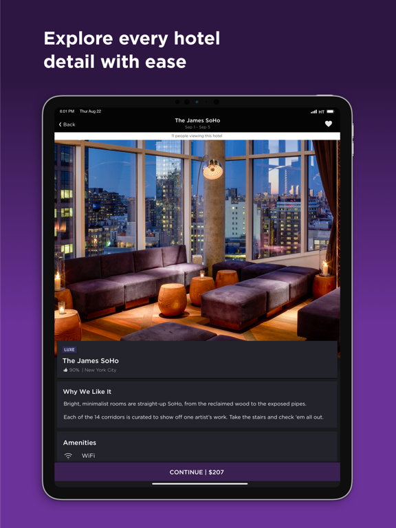 Hotel Tonight - Last-Minute Deals on Great Hotels screenshot