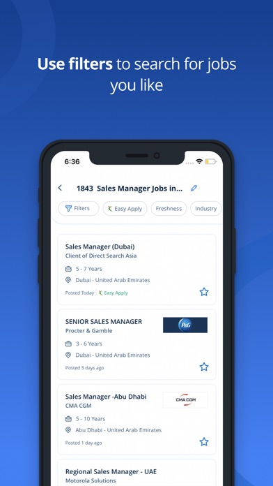 Screenshot #3 pour Naukrigulf Job Search App