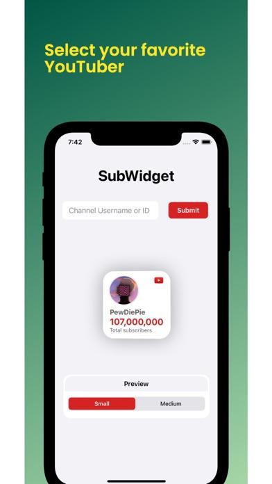 SubWidget Screenshots