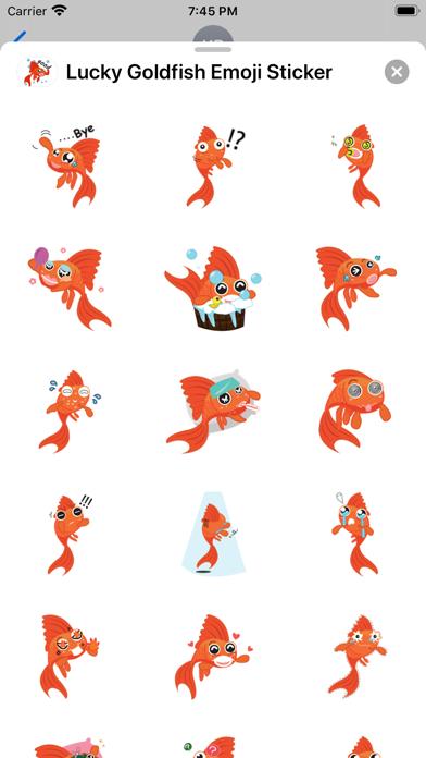 Lucky Goldfish Emoji Sticker screenshot 3