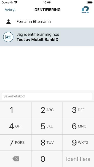 BankID säkerhetsapp på PC