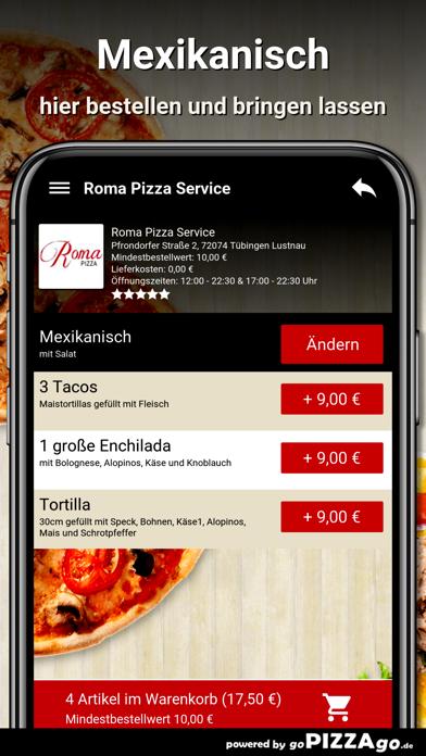 Roma Pizza Tübingen Lustnau screenshot 6