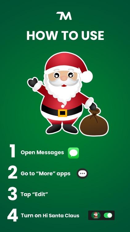 Hi Santa Claus Stickers screenshot-4