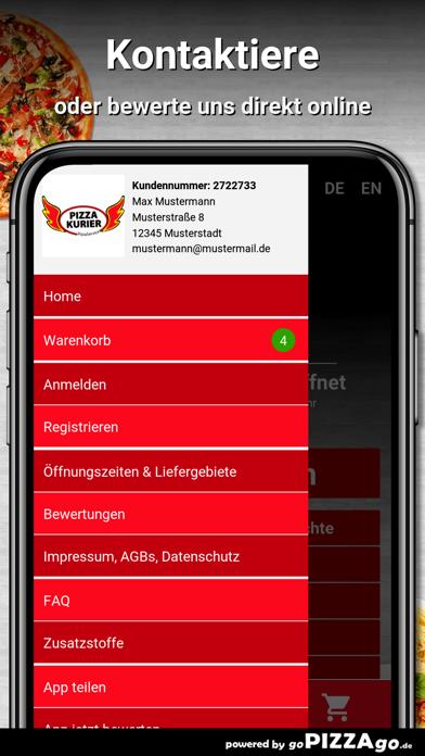 Pizza Kurier Steinhagen Essen screenshot 3