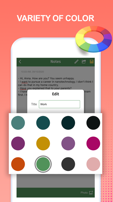 Safe Notes - Color by Note Appのおすすめ画像4