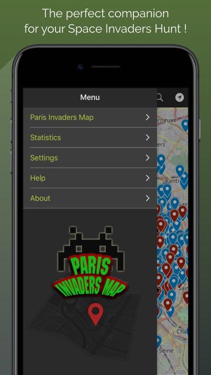 Paris Invaders Map