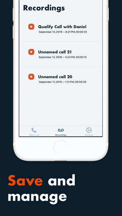 自動通話録音とログのスクリーンショット4