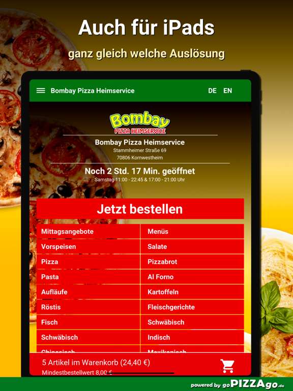 Bombay Pizza Kornwestheim screenshot 7