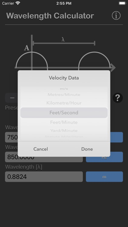 Wavelength Calculator screenshot-5